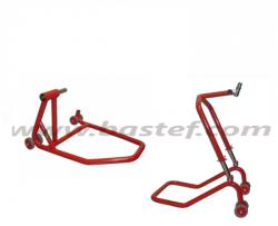 Single swingarm rear stand + steering column front stand